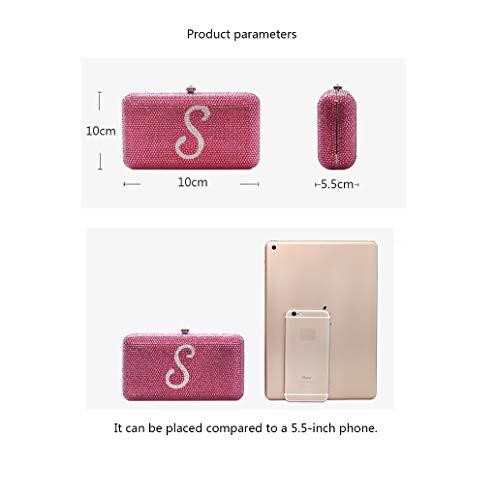 À Argent Téléphone Pochette Slung Oyy Main Demoiselle Manufacture Sac Robe Fan D'honneur couleur Pink Lady Perle De Femelle Pink Blanc Banquet Mobile Dîner Petit va4vO