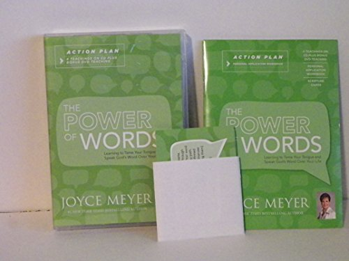 Action Words Dvd - Joyce Meyer The Power of Words Action Plan: 4 Teachings on CD & DVD Workbook & Scripture Cards