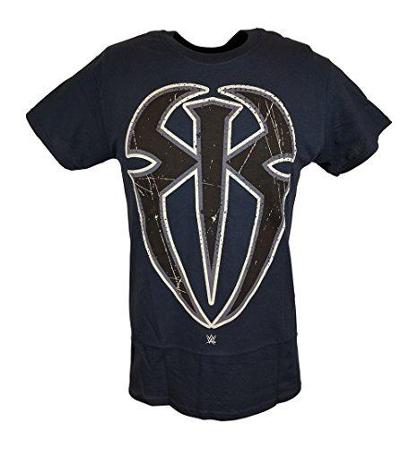 Roman Reigns Spider Logo WWE Mens Blue T-shirt-XXL by WWE
