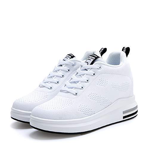 LILY999 Zapatillas de Deporte Transpirables Zapatillas de Cuña Para Mujer Alta Talón Plataforma 8cm Sneakers: Amazon.es: Zapatos y complementos