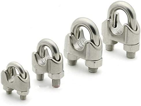 M3 304 Stainless Steel Wire Rope Clamps Saddle Clamp Cable Clip for Loading and Unloading of Goods 10 Pcs Wire Rope Clip Hoisting Machinery and etc