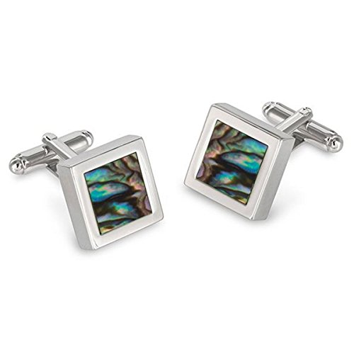 Square Framed Abalone Cufflinks ()