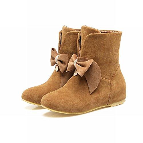 Mee Shoes Damen hidden heels Schleife halbschaft Stiefel Gelb