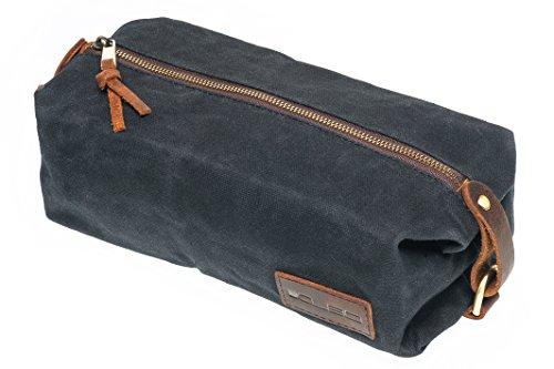 kubo-waxed-canvas-waterproof-toiletry-bag-dopp-kit-black
