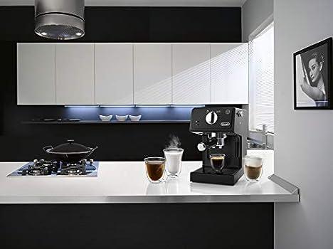 ديلونجي، صانعة قهوة، 1100 واط، 15 بار، 1.1 لتر، اسود