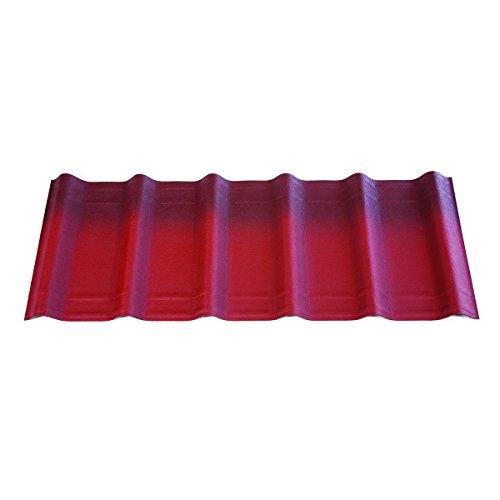 ONDUVILLA PS753 Shingle-10 Pack, Classic Red, 10 Piece