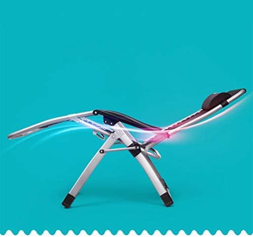 GLMAS Fauteuil inclinable pour la maison, chaise pliante Siesta lit pliant, lit simple, lit de camping, chaise longue