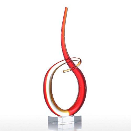(Tooarts Rhythm Glass Sculpture Home Decoration Elegant Artwork Ornament)