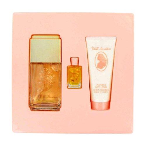 WHITE SHOULDERS by Evyan Gift Set -- 4.5 oz Cologne Spray + .25 oz Mini + 3.3 oz Body (0.25 Ounce Fragrances)