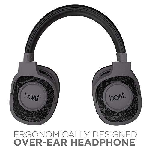 boAt Rockerz 550 Over-Ear Wireless Headphone with Ergonomic Aesthetics, Plush Padded Earcups, Immersive Audio, Bluetooth v5.0 & Upto 20H Playback (Black)