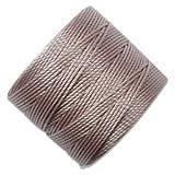 superlon cord - S-Lon Superlon #18 Twisted Nylon Bead Cord 77 Yard Spool Bobbin SILVER