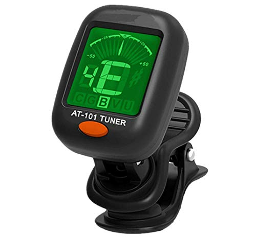Chromatic Auto Tuner - Clip-on Electric Tuner, salaheiyodd Clip-On Tuner for Guitars, Ukulele, Bass, Violin, Chromatic, 360 Degree Rotating, Electric, Fast & Accurate, Easy to Use, Auto Power Off, Battery Included
