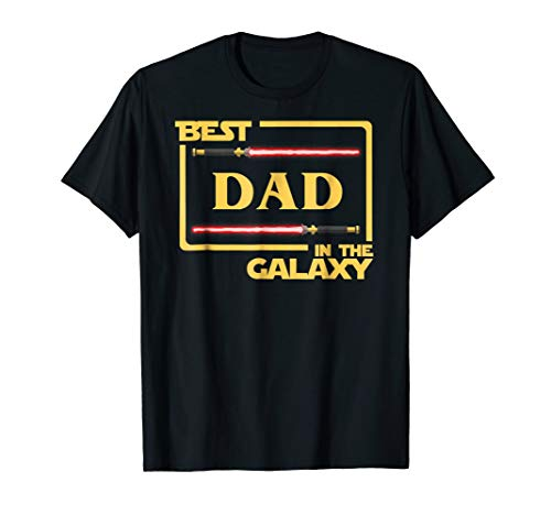(Mens Best Dad In The Galaxy Father's Day Gift)