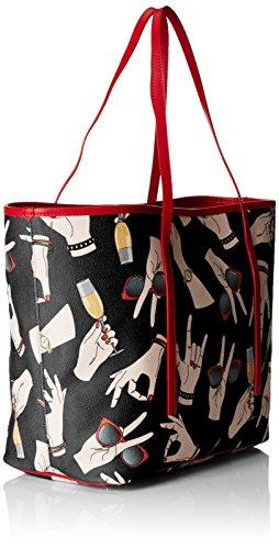 TRUSSARDI JEANS by Trussardi , Sac à main pour femme noir noir 40 cm