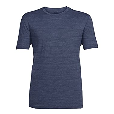 Icebreaker Men's Tech Lite Short Sleeve Tee, Fathom Heather/Fathom Heather, Medium