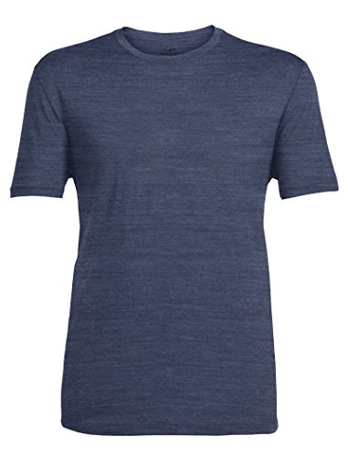 Icebreaker Men's Tech Lite Short Sleeve Tee, Fathom Heather/Fathom Heather, X-Large - Ice Breaker Wool Shirt