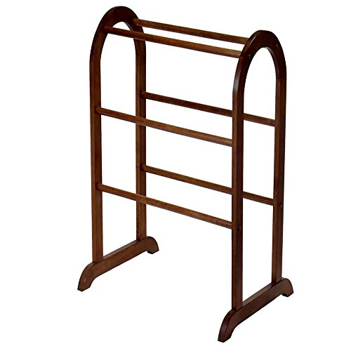 Quilt Racks Free Standing Wood, Contemporary Rustic Simple Traditional Six Bar Scroll Rack & E-Book by Quilt