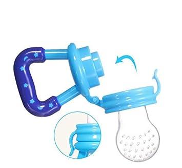 Scrox Chupetes para bebés y Dientes Mordedores Alimentador de Alimentos para bebé Chupetes para bebés Azul L