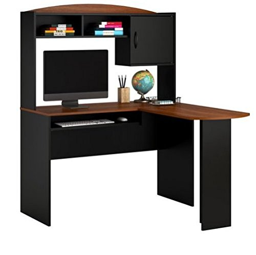 Mainstays L-Shaped Desk with Hutch Includes a slide out k...
