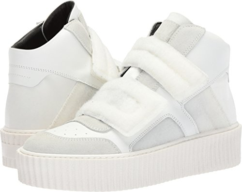 MM6 Maison Margiela Women's Hook and Loop High Top White/White 37 M - Maison Margiela White