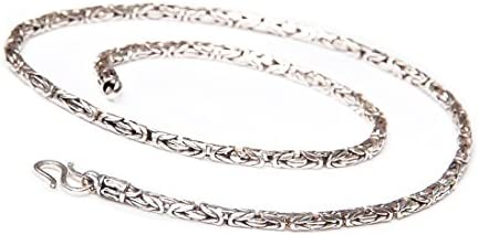 TreasureBay Men's Snkae Silver Chain Necklace - Quality Made From Solid 925 Sterling Silver
