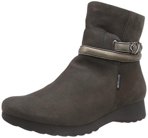 FASHION Grey Zapato 26665 de Grau 6903 Mujer Botín 6903 Bucksoft AZZURA Cuero Fashion Bucksoft 26665 Gris Mephisto qnUAtxY