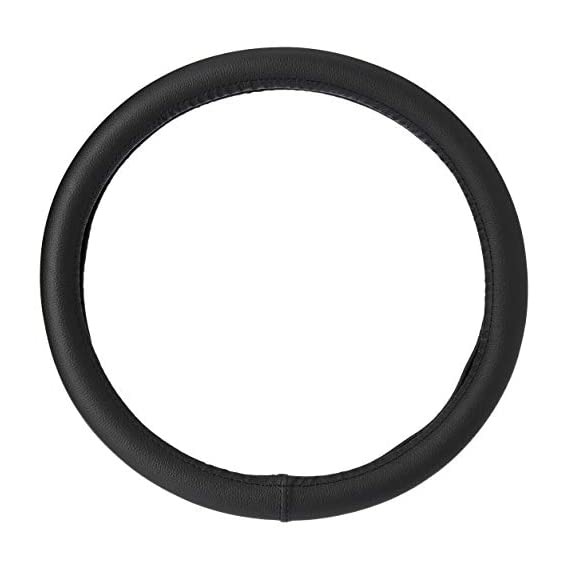 Amazon Brand - Solimo Steering Cover (Small), Black