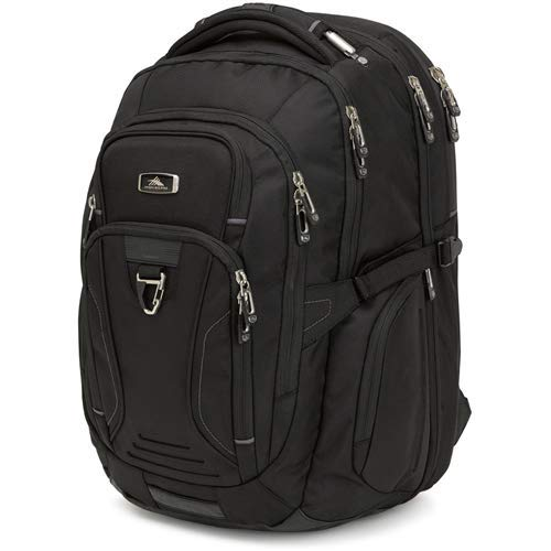 High Sierra Endeavor Business TSA Elite Backpack, Black