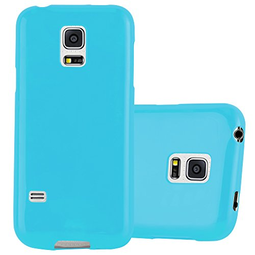 Cadorabo Case Works with Samsung Galaxy S5 / S5 NEO in Jelly Light Blue - Shockproof and Scratch Resistant TPU Silicone Cover - Ultra Slim Protective Gel Shell Bumper Back Skin