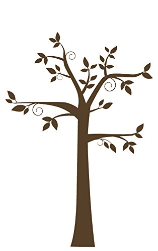 Ornate Tree Wall Decal Vinyl Decor Sticker - Use for Decorating Living Room or Bedroom at Home, Office, Nursery - Nature Scene Wall Art