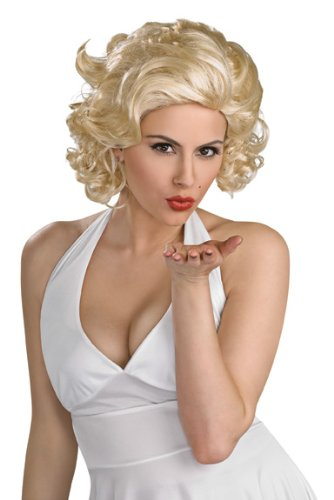 Secret Wishes  Costume Deluxe Marilyn Monroe Wig, Yellow, One Size (Marilyn Sexy Wig Blonde)
