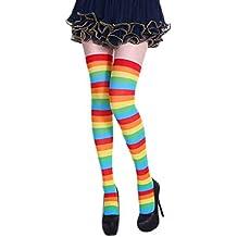 Women's Striped Stockings Knee High Socks Christmas Costume Accessories