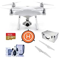 DJI Phantom 4 Advanced Quadcopter Drone with 5.5in FHD Screen Remote Controller - Bdle With 32GB MicroSDHC U3 Card, DJI Aluminum Case, DJI Quick-Release Propellers, and More