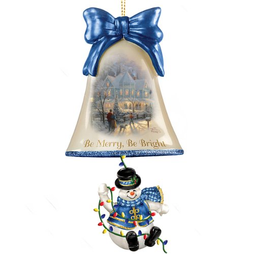 Ornament: Thomas Kinkade Be Merry, Be Bright Ornament by The Bradford Exchange