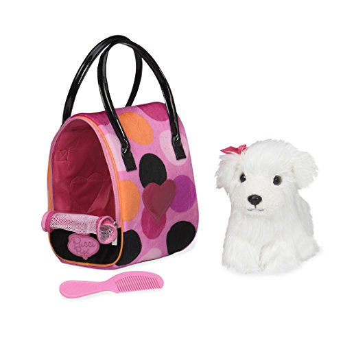 - Pucci Pups by Battat - Bichon Frisé Stuffed Puppy with Colorful Polka Dot Stuffed Animal Bag