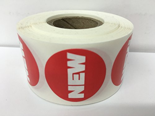 "1000 Labels 1"" Round Red NEW Point of Sale Pricing Inventory Control Retail Stickers 1 Roll"