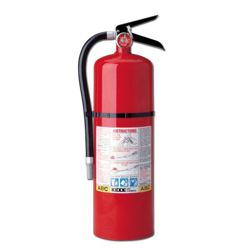 Kidde 466204 Pro 10 Multi-Purpose Fire Extinguisher, UL Rated 4-A, 60-B:C, Easy to Read Gauge, Easy to Pull Safety Pin (Rechargeable Fire Extinguishers)