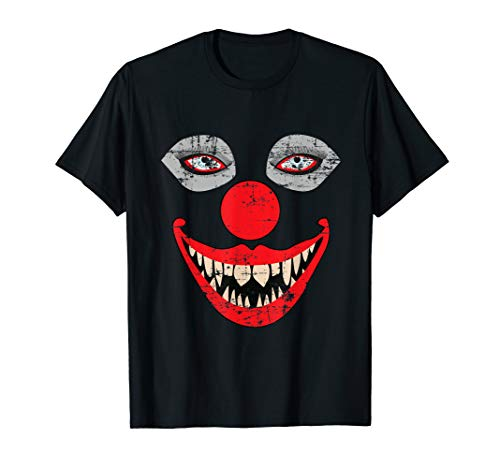 Scary Clown Face T-Shirt Weird Bizarre Halloween Tee Shirt
