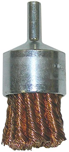 Weiler 10067 Knot Wire End Brush, 1-1/8'', 0.20'' Bronze Fill (Pack of 10) by Weiler