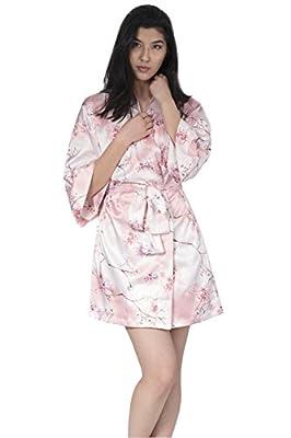 """JNY AOP Semi-Dull Satin 36"""" Kimono"""