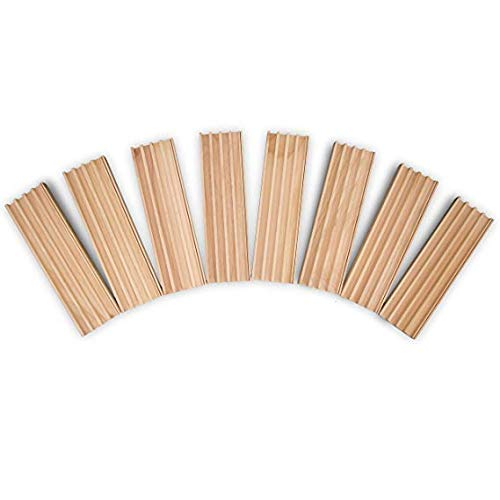 Wooden Domino Rack Trays - 8 Pack - Keep Your Dominos and Playing Cards Safe and In Place. Perfect Gift or Accessory For Elderly, Kids, and Adults - No More Ruined Games ()