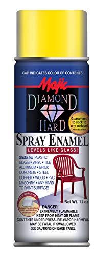 (Majic Paints 8-21508-8 Diamond Hard Acrylic Enamel Spray Paint, Aerosol, 11-Ounce, Light Yellow)
