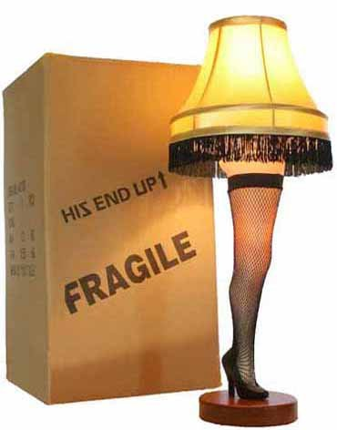 "A Christmas Story 26"" Desktop Leg Lamp"
