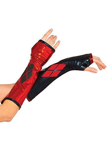 Rubie's Costume Co Harley Quinn Arm Warmers - Batman Gauntlets for Teens and Adults ()