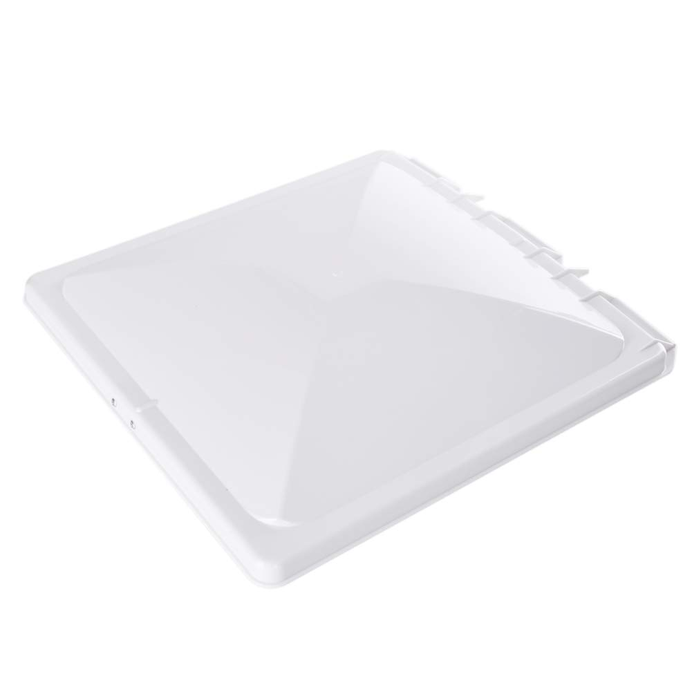 HOMEE RV Roof Vent Cover 14'x 14' Universal Replacement Vent Lid Impact-Resistant Vent Line Fan Lid Camper Trailer Motorhome HMTFG001