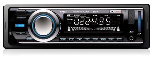 XO Vision XD103 Car Stereo Receiver with 20 watts x 4 and USB Port and SD Card Slot (Sound Delta Card)