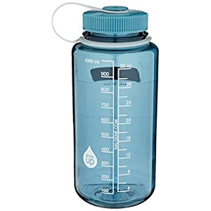 Nalgene Tritan Wide Mouth BPA-Free Water Bottle, Cadet W/ Cadet Cap, 32oz