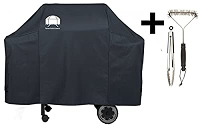 Texas Grill Covers 7573 Premium Cover for Weber Spirit 200 / 300 and Genesis Silver A / B Gas Grills Including Brush and Tongs