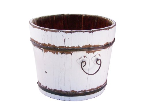 Antique Revival Vintage Chatwell Bucket, White