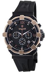 Lancaster Men's OLA0440L/BK/NR/NR Robusto Chronograph Black Dial Rubber Watch